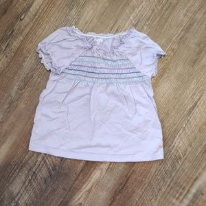 Lilac ruched top